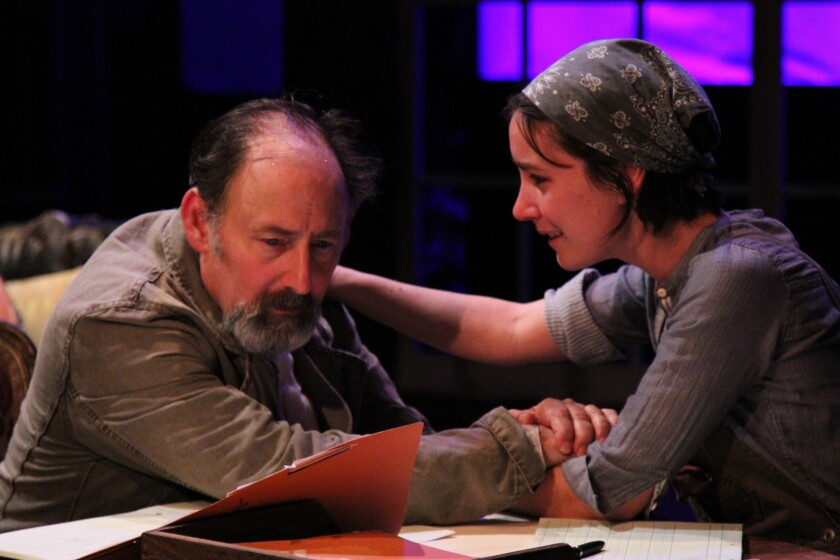 """Arye Gross is Vanya and Shannon Lee Clair is Sonya in a new """"Uncle Vanya"""" at Antaeus, based on an adaptation of Chekhov's play by Annie Baker, and directed by Robin Larsen."""