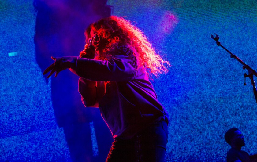 H.E.R. making her live debut at Staples Center on June 23, 2017.