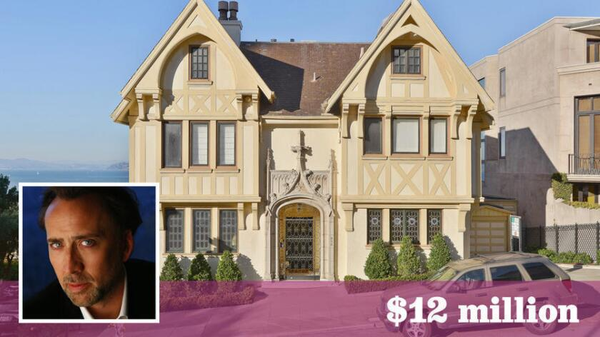 A Gothic Tudor mansion once owned by Nicolas Cage is for sale in San Francisco for $12 million.