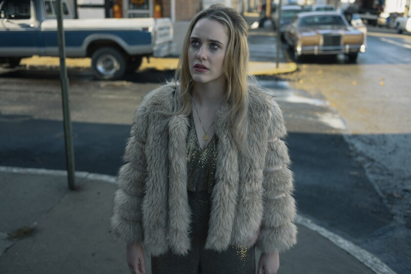 "Rachel Brosnahan appears in a scene from the film ""I'm Your Woman."" (Wilson Webb/Amazon Studios via AP)"
