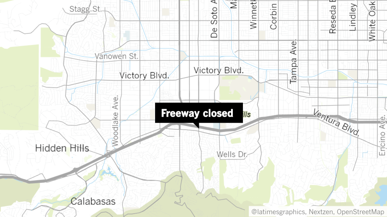 Eastbound 101 Freeway reopens in Woodland Hills after brief closure following shooting