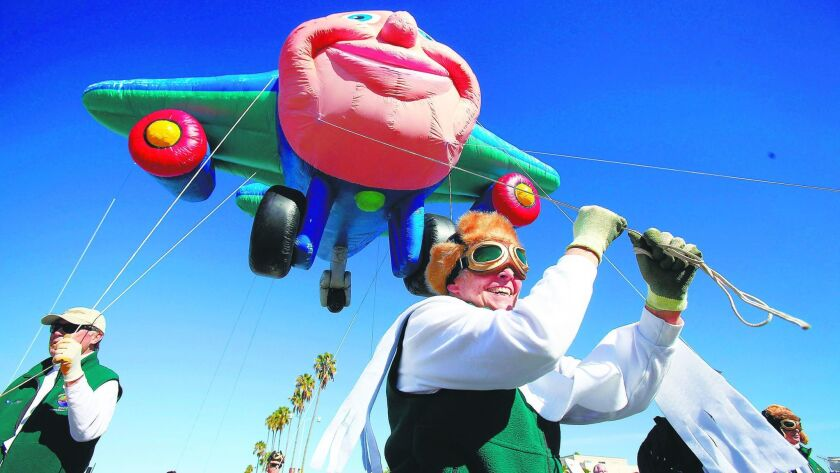 The Port of San Diego Holiday Bowl Parade is in downtown San Diego on Dec. 28.