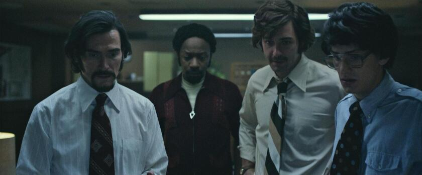 """Billy Crudup, left, plays Dr. Philip Zimbardo in """"The Stanford Prison Experiment,"""" based on a 1971 event at the university"""