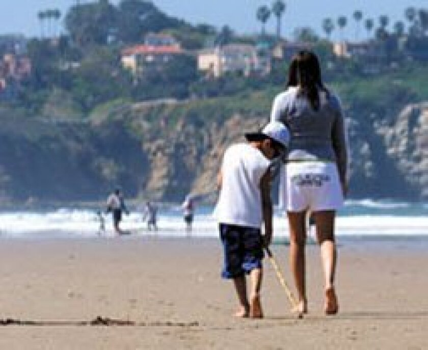La Jolla Shores beach is popular with both locals and tourists. (La Jolla Light File Photo)