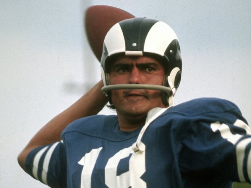 Quarterback Roman Gabriel was selected by the Los Angeles Rams with the second overall pick in 1962.