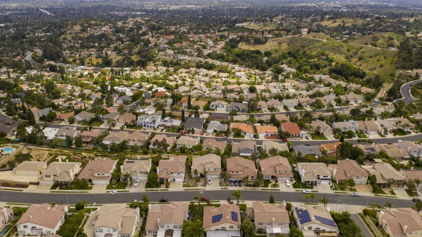 Granada Hills, a suburban neighborhood in the city of Los Angeles' northernmost reaches.