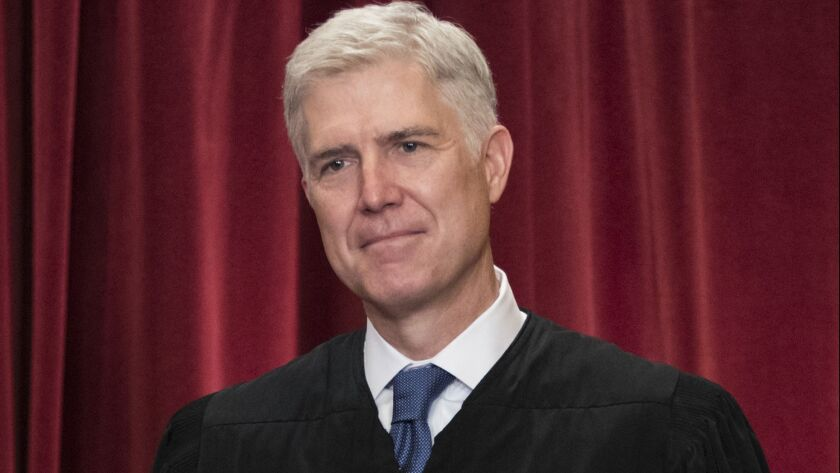 Supreme Court Justice Neil M. Gorsuch in 2017.