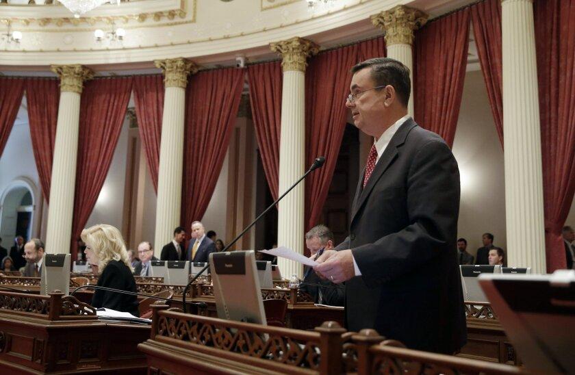 Sen. Joel Anderson has dropped out of the race against Supervisor Dianne Jacob. (AP Photo/Rich Pedroncelli)