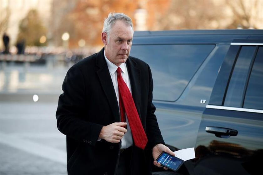 El secretario de Interior de EEUU Ryan Zinke. EFE/Archivo