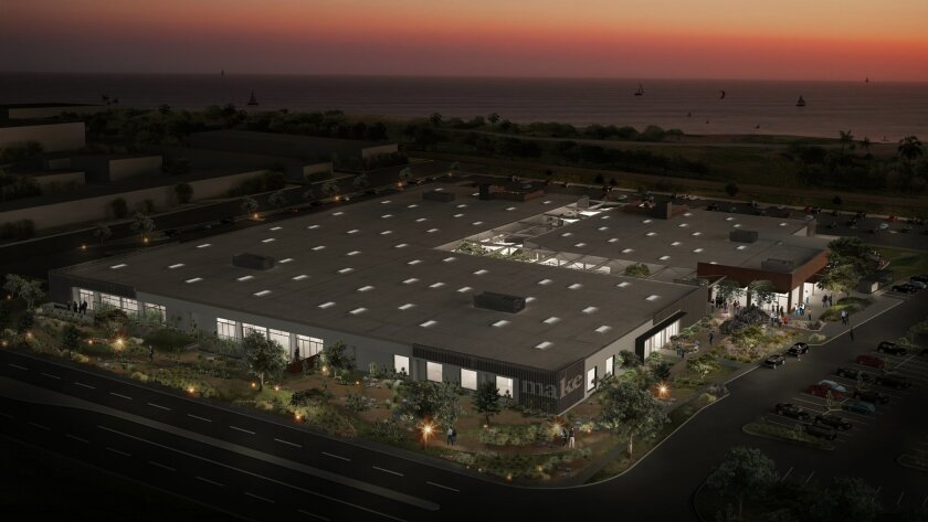 Make will include amenities like a 40-wide open-air breezeway cut into the old floral mart in Carlsbad.