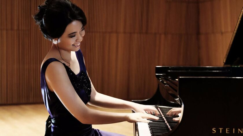 Award-winning pianist Joyce Yang joins the San Diego Symphony on Friday, Saturday and Sunday for its Jacobs Masterworks Concert featuring the music of Rachmaninoff and Mozart.