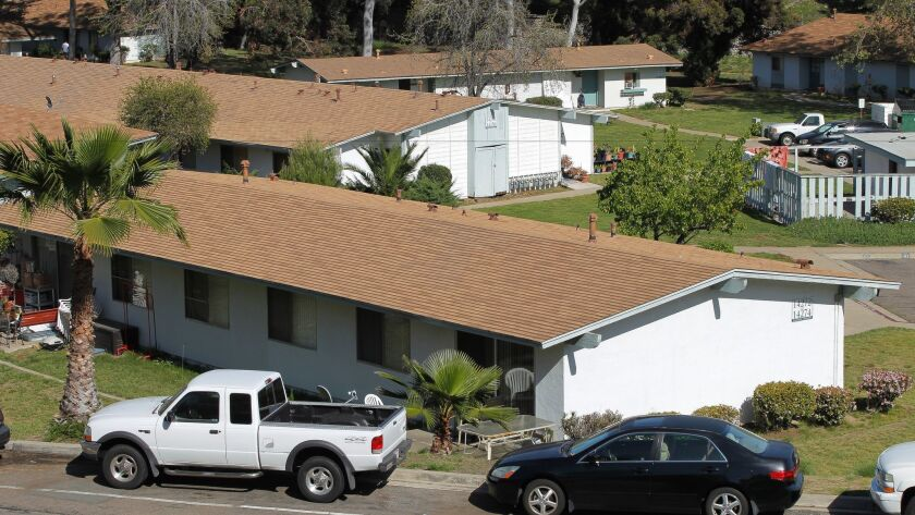 The now-demolished Peñasquitos Village subsidized apartment complex