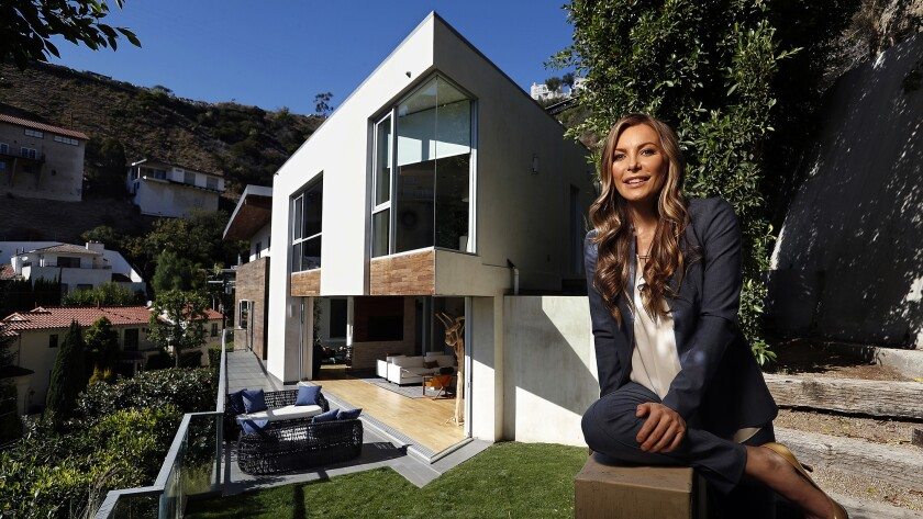 Life After Hugh Crystal Hefner Designs A Real Estate Focused Future Los Angeles Times