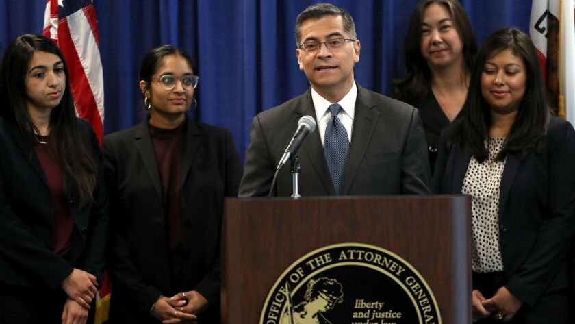 California Attorney General Xavier Becerra Discusses Intial Report On State's Immigration Detention Facilities