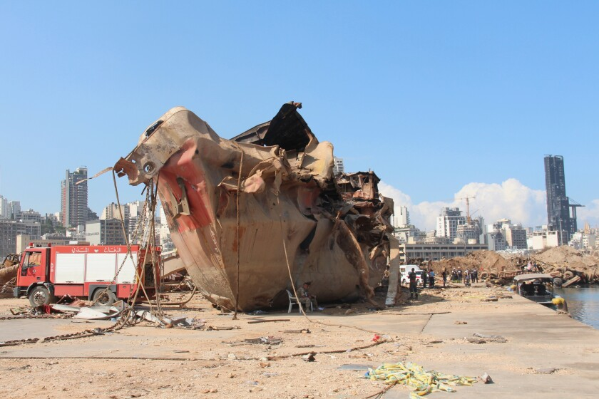 The explosion in Beirut's port destroyed the Amadeo, an edible-oil tanker.