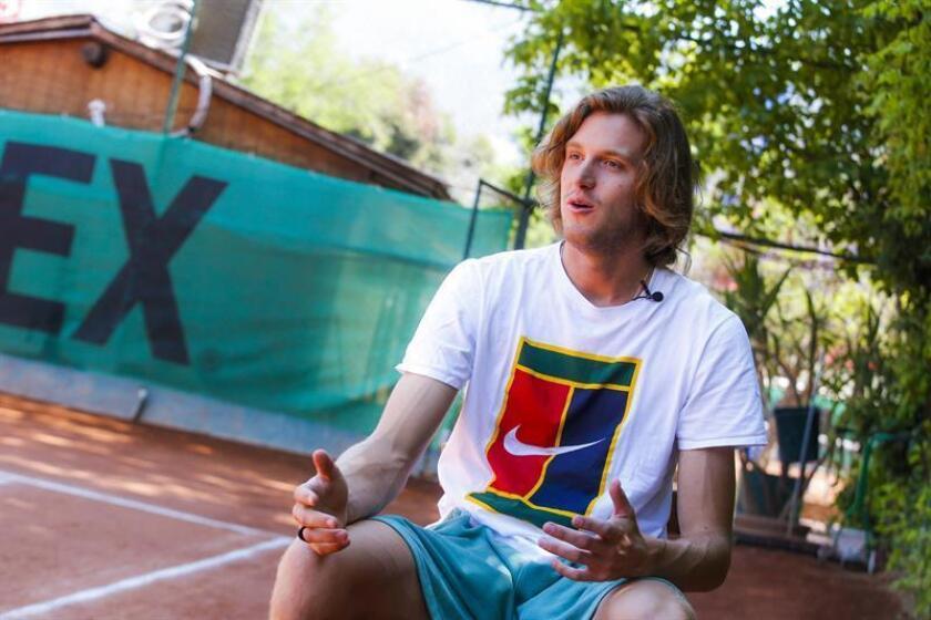 Chilean tennis star Nicolas Jarry is interviewed by EFE on Nov. 23, 2018 en Santiago, Chile. EPA-EFE/Alberto Peña