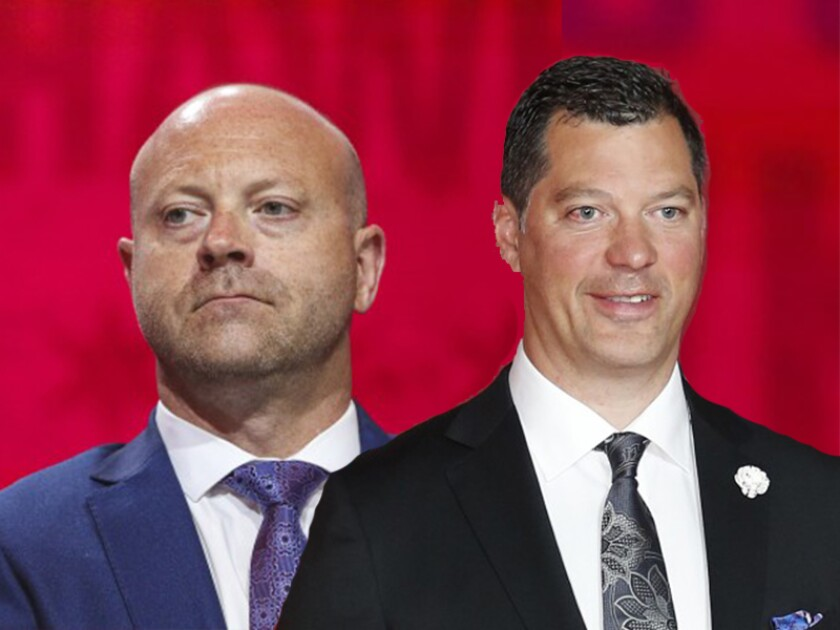 Stan Bowman and Bill Guerin were named general manager and assistant GM for the U.S. Olympic men's hockey team.