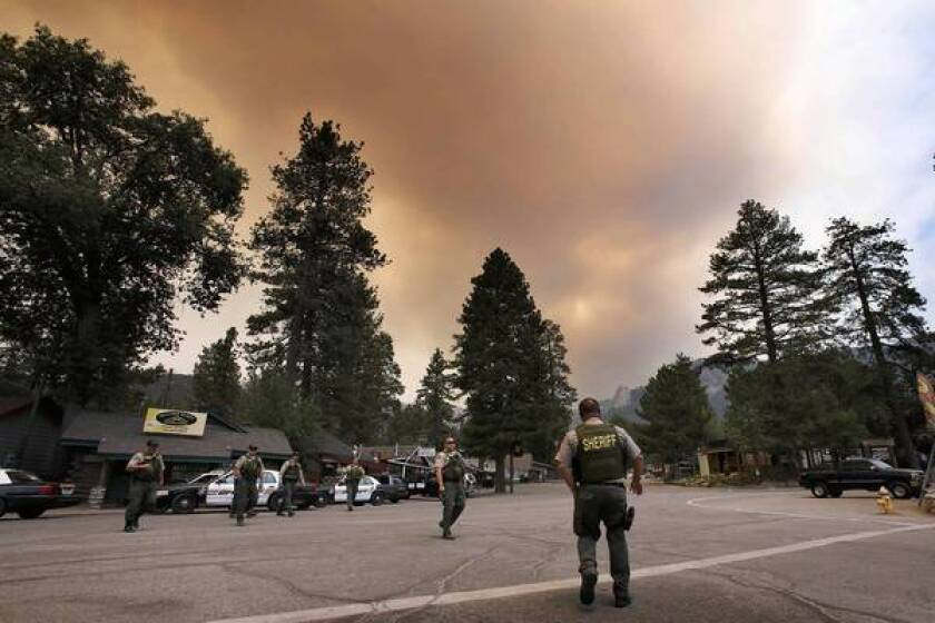 Idyllwild is evacuated as the Mountain fire rages south of Palm Springs