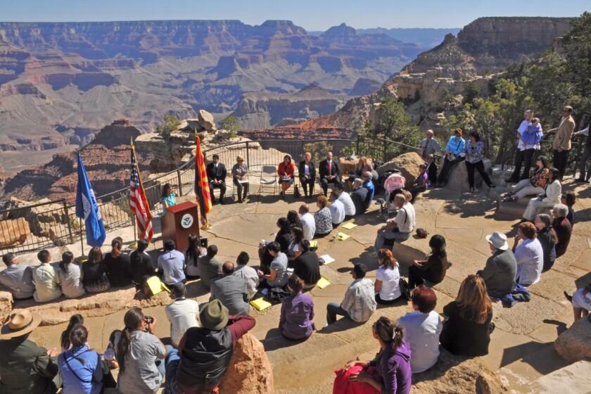 Naturalization ceremony at Grand Canyon National Park