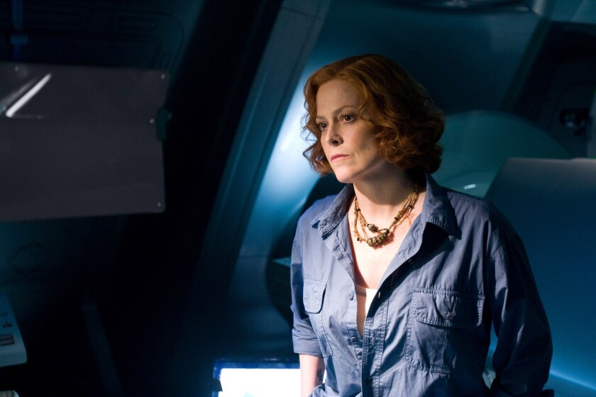 "Sigourney Weaver as Grace in the 2009 film ""Avatar."""