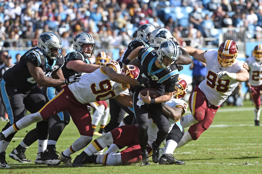 Redskins Panthers Football