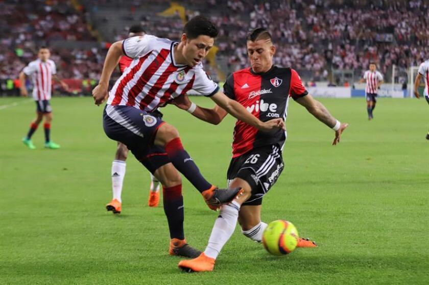Las Chivas del Guadalajara defienden este miércoles en casa ante el Toronto el 1-2 logrado en la ida de la final de la Liga de Campeones de la CONCACAF, un triunfo que les daría la clasificación para el Mundial de Clubes que se jugará en diciembre en Emiratos Árabes Unidos. EFE/Archivo