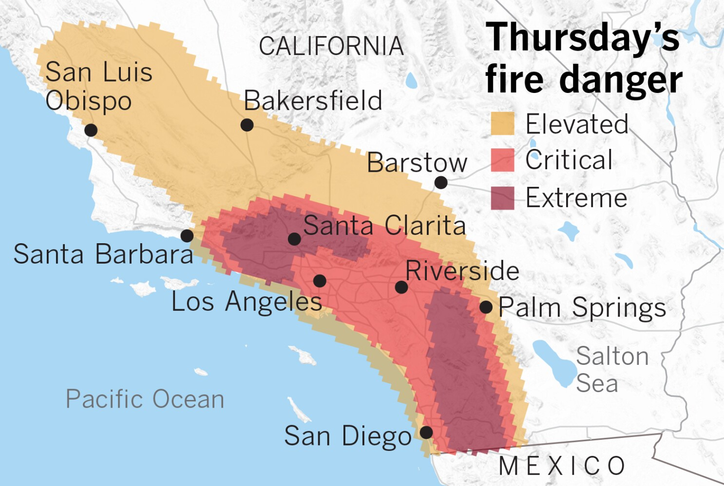 California Fire Map Getty Fire Kincade Fire Calabasas Fire