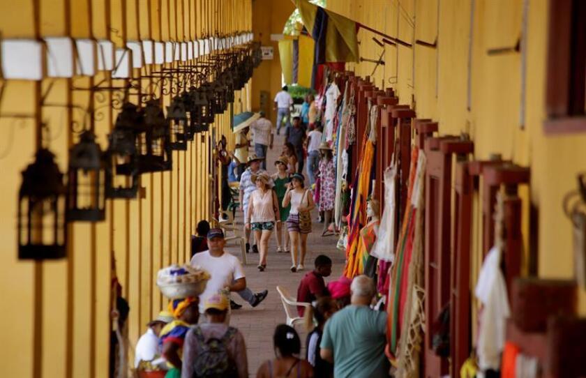 Registro general de la bóvedas turísticas en la ciudad amurallada de Cartagena de Indias (Colombia). EFE