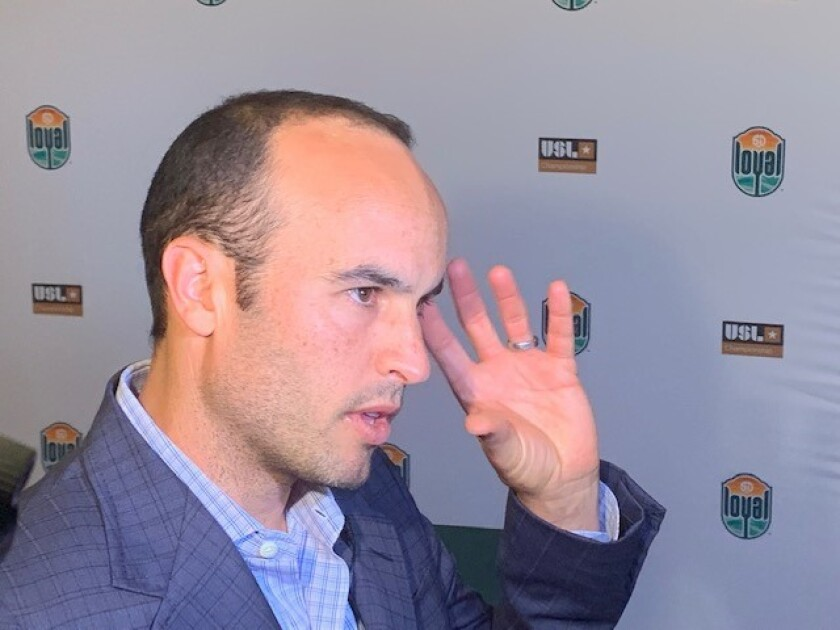 Landon Donovan is the first coach of the San Diego Loyal.
