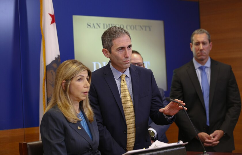 San Diego District Attorney Summer Stephan and Deputy District Attorney Leon Schorr answered questions about A3.