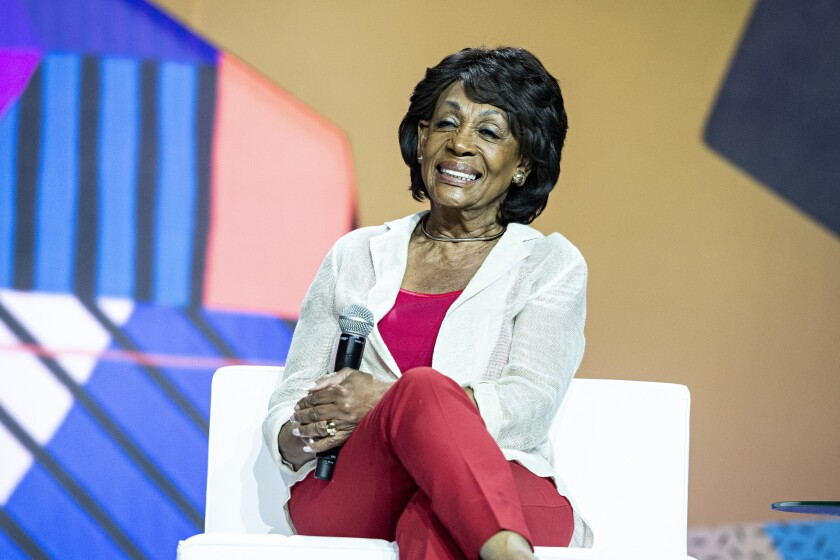 Rep. Maxine Waters, D-Calif., seen at the 2018 Essence Festival at the Ernest N. Morial Convention Center on July 7, 2018, in New Orleans. (Photo by Amy Harris/Invision/AP)