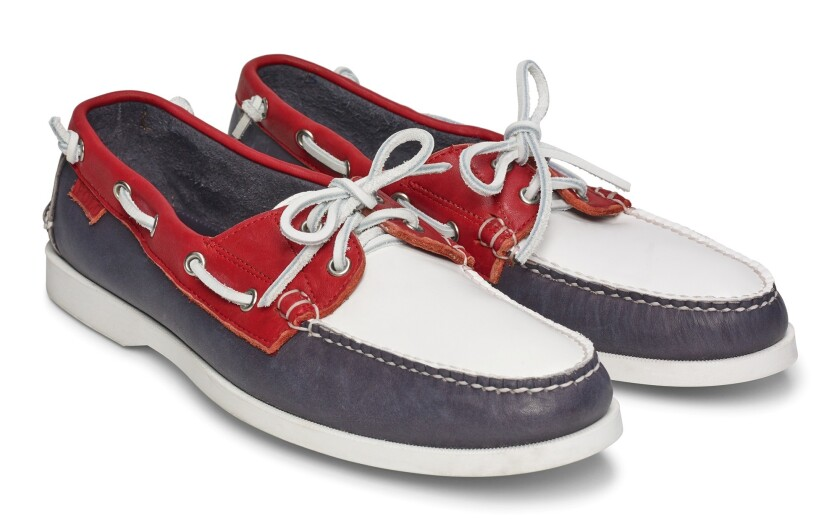 The Team USA closing ceremony boat shoe.