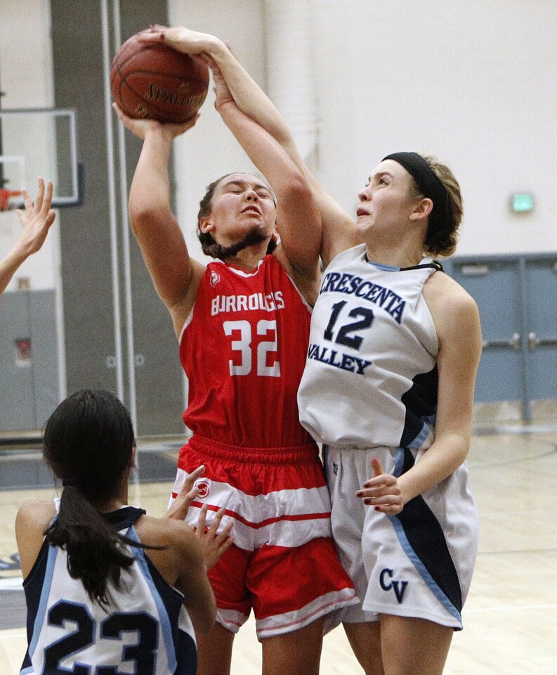 Photo Gallery: Crescenta Valley vs. Burroughs in Pacific League girls' basketball