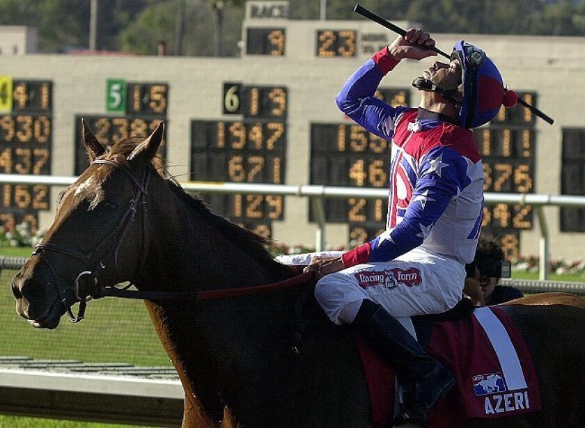 In 2002, Azeri put together a remarkable string of wins in Grade I and Grade II events, capped by a Breeders' Cup triumph and Horse of the Year honors