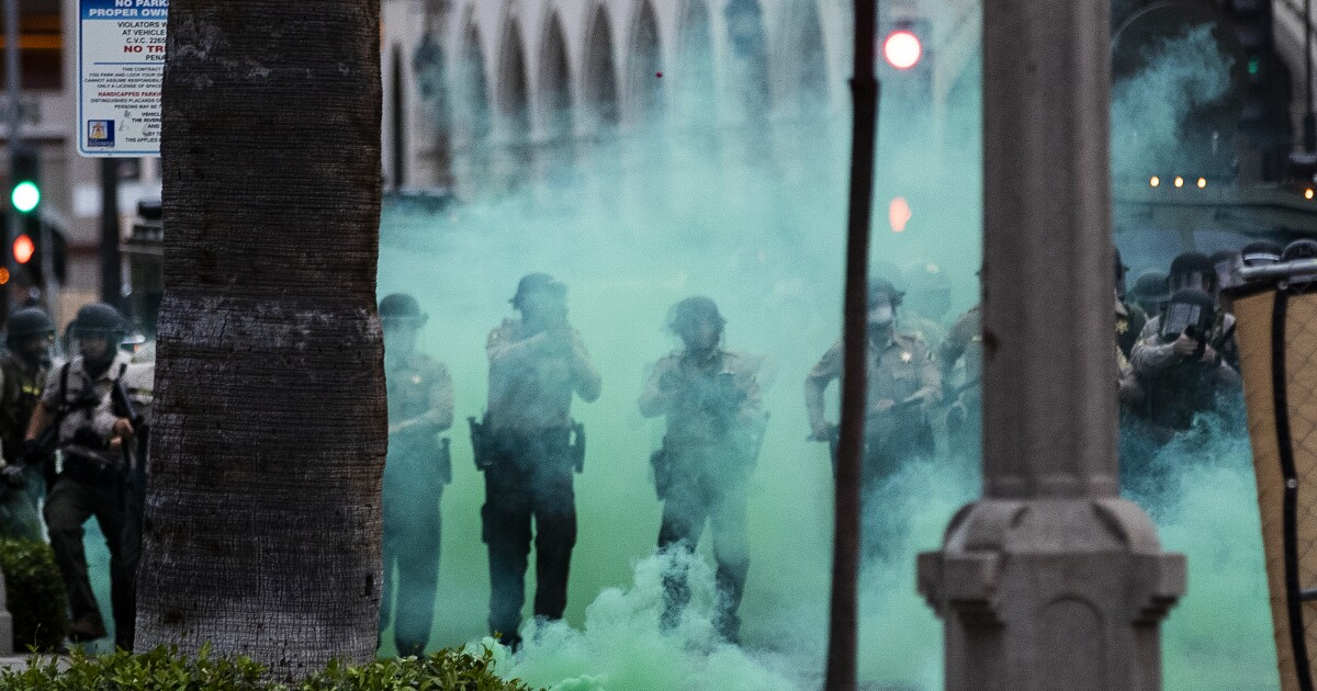 Tear gas at protests may spread coronavirus, experts say
