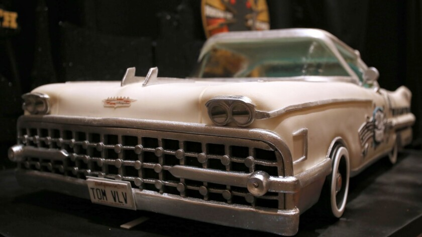 """A vintage Cadillac cake 3 feet long wowed viewers during the Nov. 5 premiere of """"Vegas Cakes,"""" a TV series featuring Freed's Bakery in Las Vegas."""