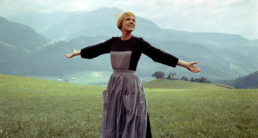 "Julie Andrews appears in a scene from ""The Sound of Music."" The actress is writing a memoir about her life in film."