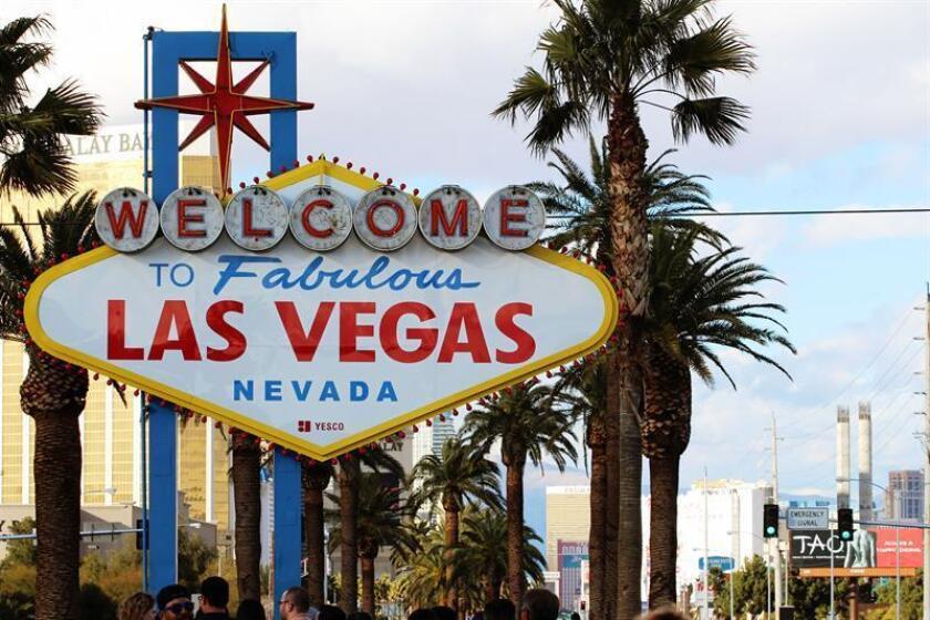 Vista del cartel que da la bienvenida a los visitantes de la ciudad de Las Vegas en Nevada. EFE/Archivo