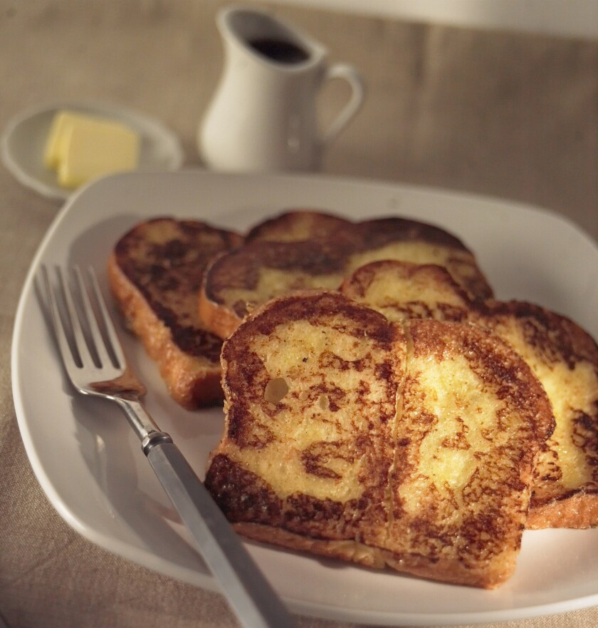 BREAKFAST: French toast by Square One Dining in Hollywood is made with brioche and crème anglaise.