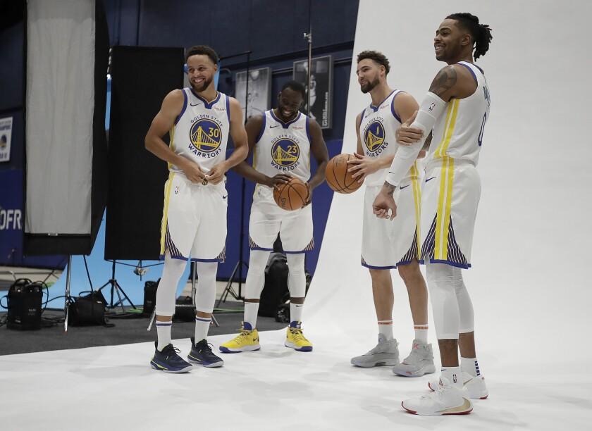 Warriors Media Day Basketball