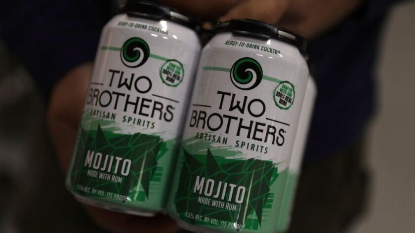 Cans of ready-to-drink mojito are among the latest products rolled out by Two Brothers Brewing.