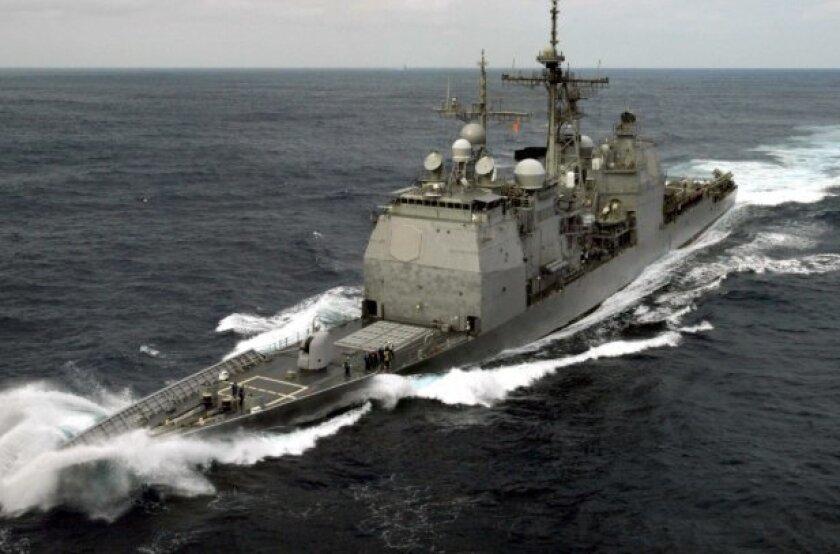 The Ticonderoga-class cruiser Chancellorsville was commissioned in November 1989.