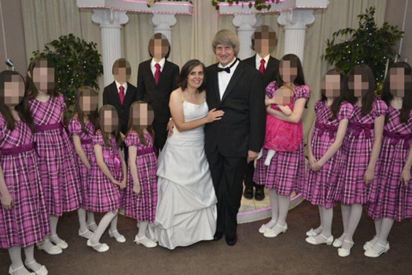 La familia Turpin, posando para una foto en Las Vegas.
