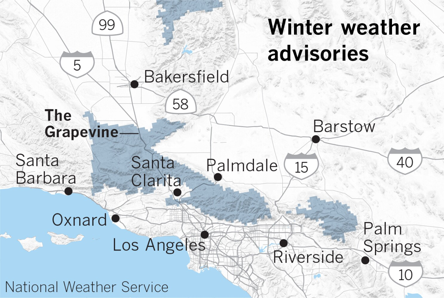 Snow Levels May Drop To The Level Of The I 5 Freeway Over The