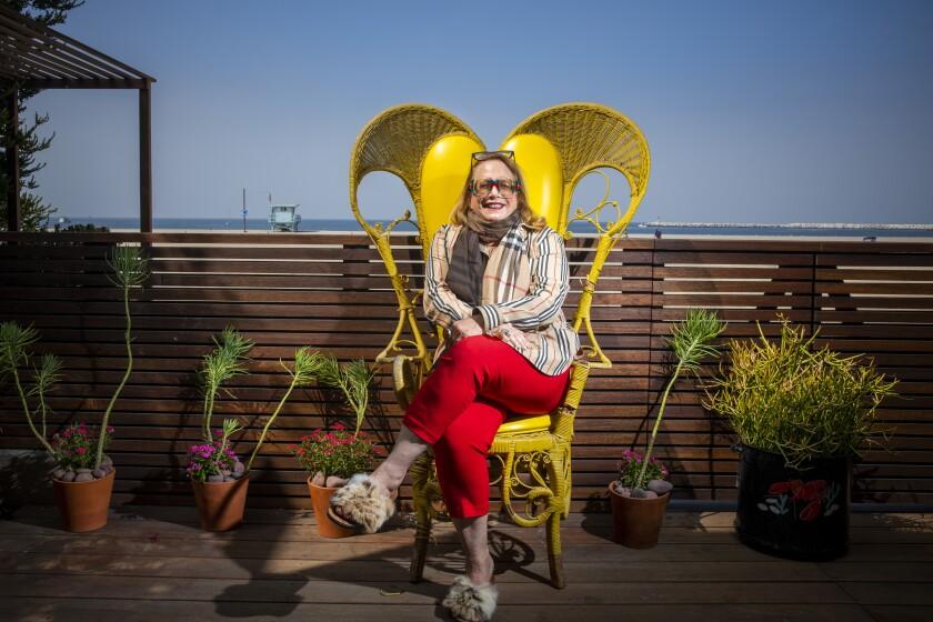 Composer Laura Karpman at her Los Angeles home.