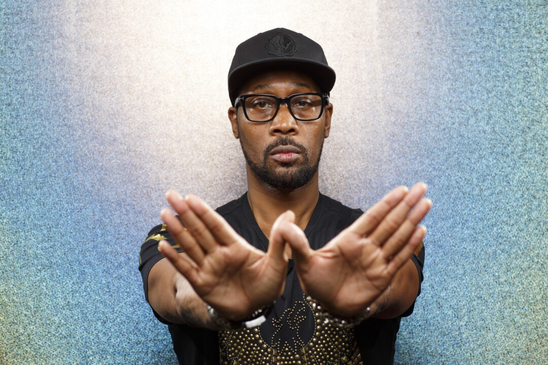 """RZA from the film """"Cut Throat City,"""" photographed in the L.A. Times Photo and Video Studio at Comic-Con 2018."""