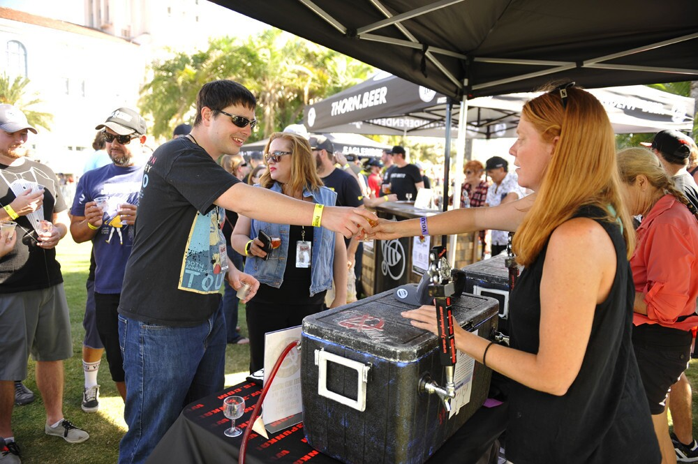 Attendees sampled beers and raged to musical acts at Ye Scallywag! at Waterfront Park on Saturday, Oct. 21, 2017.