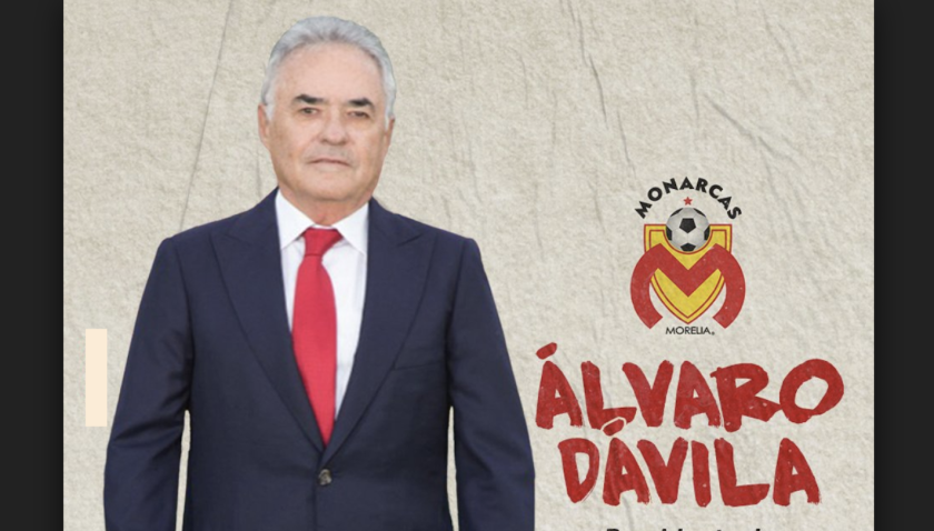 Álvaro Dávila, presidente del Morelia.