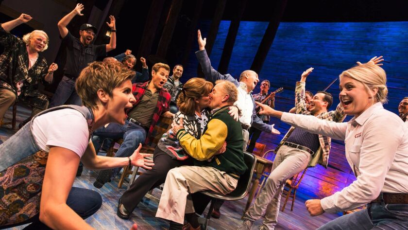 "The cast of ""Come From Away"" on Broadway."