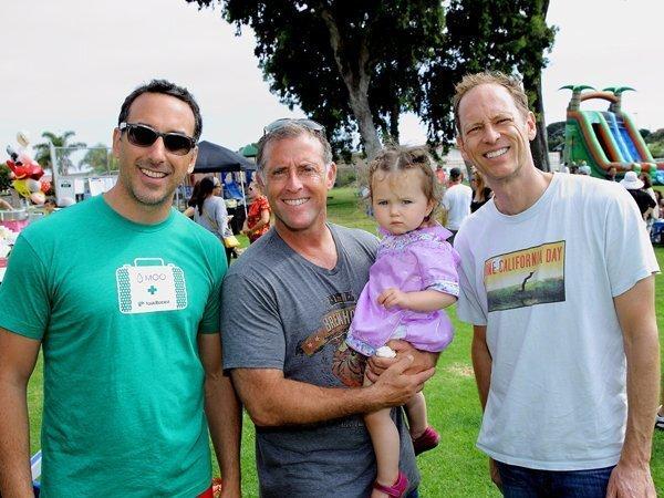 Mike Pusateri, Jason Brook with Vivianna, Kent Olson
